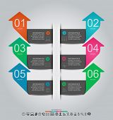 Abstract infographics design with paper numbered labels - vector illustration. This work - eps10 vec