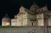 Nightshot Of Piazza Dei Miracoli In Pisa