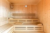 healthy wooden steam sauna
