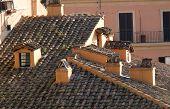 Closeup Of Italian Roof