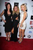 LOS ANGELES - APR 2:  Julie Lott Gallo, Jasmine Dustin, Anya Monzikova arrives at  the No Kill L.A.