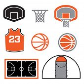 image of basketball  - Simple Basketball Vector Elements - JPG