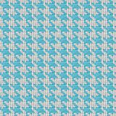 Blue And White Houndstooth