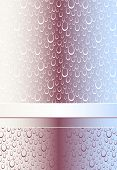 Abstract Seamless pattern or background with bubbles or drops