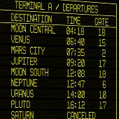 Future Flight Timetable