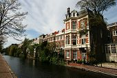 Canal With Historical Houses poster
