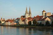View Of Regensburg Embankment,bavaria,germany