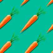 Carrot seamless pattern