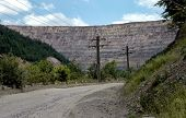 Controversial Gold Mine Open Pit Excavation, Rosia Montana, Romania