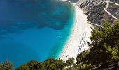 Myrtos Beach In Kefalonia, Greece