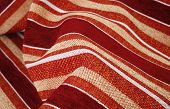 Wrinkly striped textile material woven cloth