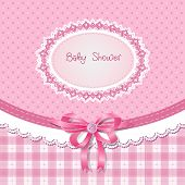 stock photo of born  - Baby shower for girl - JPG
