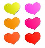 Heart shape stickers