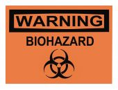 stock photo of osha  - OSHA biohazard warning sign isolated on white - JPG