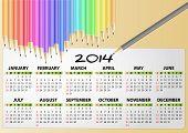 2014 Calendar Pencil