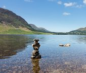 Reflection On Lake District Hills In Crummock Water