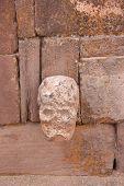 Mysterious Skull Head in Semi-Underground Temple - Semisubterraneo, Tiwanaku