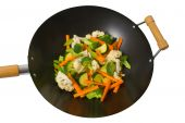 Fresh Vegetables In Wok