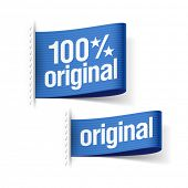 100% original product labels. Vector.
