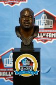 CANTON, OH-AUG 3: The bust of former Dallas Cowboys offensive lineman Larry Allen on display during