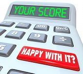 Your Score Calculator Happy with Number Result