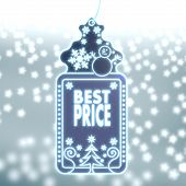 Magic Christmas Label With Best Price Sticker