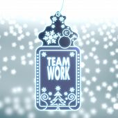 Magic Christmas Label With Teamwork Sticker