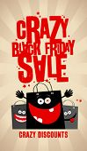 Black friday sale design with shopping bags.