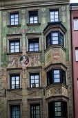 Frescos On A House Facade, Innsbruck