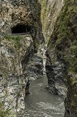 Famous geography landscape at Taroko National Park, Taiwan, Asia
