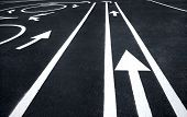Road markings signs