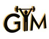 Gimnasio Fitness Logo 3D