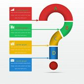 Elements of infographics, Modern Design Circle template, can be used for infographics,  vector
