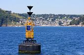 image of dartmouth  - channel marker buoy off Dartmouth in Devon - JPG