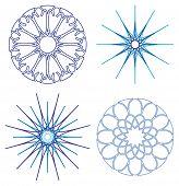 Diffrent Snowflakes Vector