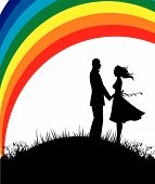 Man And Woman, Color Rainbow