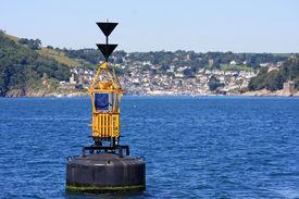foto of dartmouth  - channel marker buoy off Dartmouth in Devon - JPG