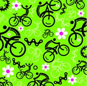 Spring Cycling Decorative Backgradobe