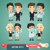 Doctors Cartoon Characters Set1.2