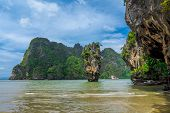 image of james bond island  - James Bond Island from Phang Nga Bay - JPG