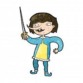 picture of muskets  - cartoon man with sword - JPG
