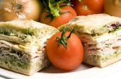 Gourmet Turkey Sandwich With Muenster Cheese