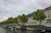 COPENHAGEN, DENMARK-CIRCA July 2013: Cruising along Nyhavn in Copenhagen
