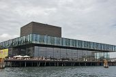COPENHAGEN, DENMARK-CIRCA July 2013: People Enjoying on Royal Danish Playhouse in Copenhagen
