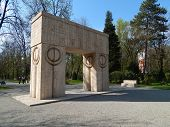 The Gate of the Kiss by Constantin Brancusi