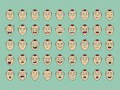 Collection Of Vector  Emotion Face Smile