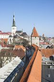 Cityscape Of The Old Town Of Tallinn, Estonia