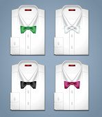 Vector set of classic white shirts