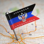 foto of extremist  - Small Flag of Donetsk People - JPG