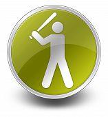 Icon, Button, Pictogram Baseball